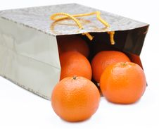 Free Package With Mandarines Stock Photos - 17731343