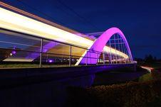 Bridge For Light Rail Near Stuttgart Royalty Free Stock Photo