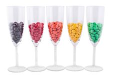 Free Five Wine Glasses With A Color Dragee Stock Photo - 17732020