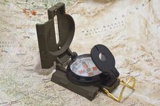 Free Compass And Map Stock Image - 17732471