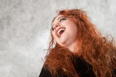 Free Laughing Crazy Young Woman Stock Photography - 17732812