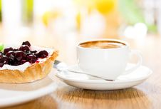 Free Fruit Dessert And Coffee Royalty Free Stock Images - 17732959