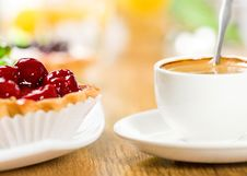 Free Fruit Dessert And Coffee Stock Image - 17733111