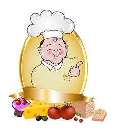 Royal Label With Chef Royalty Free Stock Photos