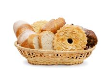 Free Basket Of Various Fresh Baked Bread Stock Photography - 17733412