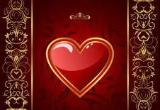 Creative Valentine Greeting Card With Heart Stock Photo