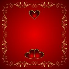Free Valentine Greeting Card With Heart Stock Image - 17733621