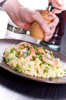 Free Risotto With Seafood Royalty Free Stock Photography - 17734397