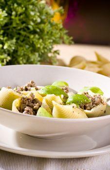 Free Shell Pasta Bolognese Stock Image - 17734531