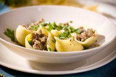 Free Shell Pasta Bolognese Stock Image - 17734571