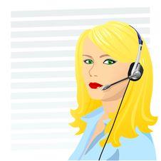 Free Vector Young Beautiful Girl Telephone Operator Stock Photo - 17735240