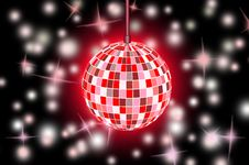 Free Disco Ball Background Royalty Free Stock Photos - 17736298