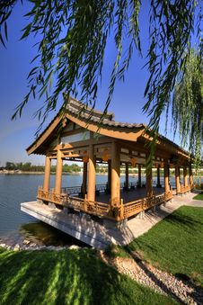 A Pavilion In Qujiang Pool Relic Park