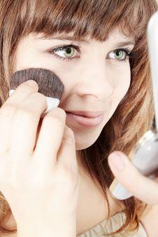 Free Make-up Brush Royalty Free Stock Image - 17737456