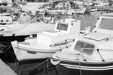 Greek Boats In Aegina Island Stock Photography