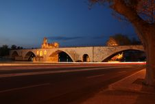 Free Night View Of The Pont St. Benezet Stock Photography - 17737772