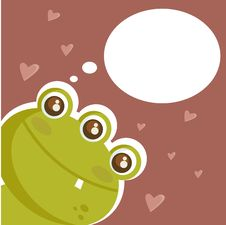 Cute Monster In Love Stock Image