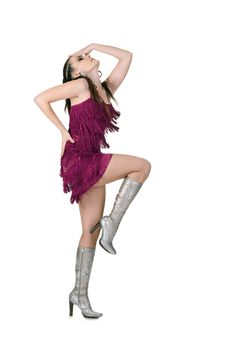 Cool Dancer Woman Royalty Free Stock Photos