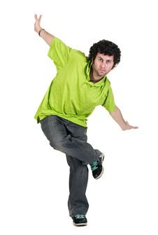 Cool Dancer Man Royalty Free Stock Photo