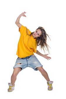 Cool Dancer Woman Stock Photo