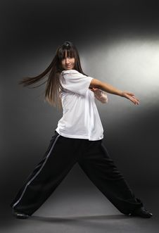 Cool Dancer Woman Royalty Free Stock Image