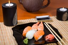 Japanese Sushi Plate Stock Photography