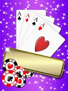 Free Poker Aces And Chips Royalty Free Stock Images - 17738149