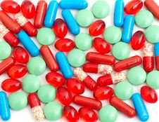 Free Colorful Tablets With Capsules Stock Image - 17738201