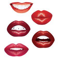 Lips. Royalty Free Stock Photos