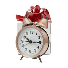 Free A Retro Clock With Presents Stock Photography - 17738702