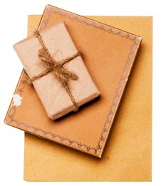 Gift From Grunge Paper Stock Image