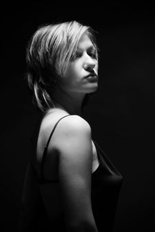 Free Desaturated Portraite Of Sexy Woman Stock Photos - 17739813