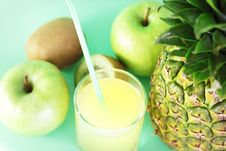 Juice And Fruit Royalty Free Stock Photography