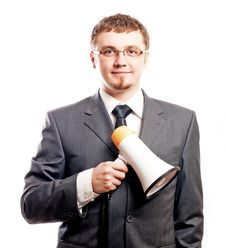 Free Successful Happy Young Business Man Royalty Free Stock Photo - 17739855