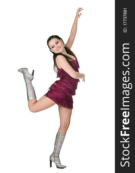 Cool dancer woman