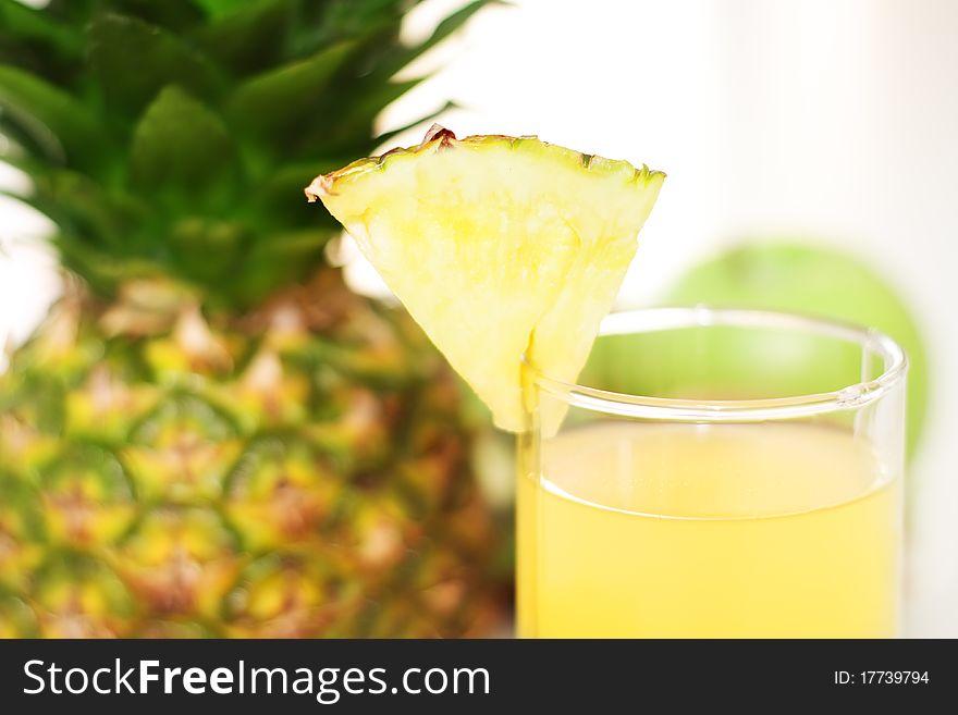 Pineapple juice and pineapple