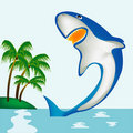 Free Shark Beside Coast Of The Tropical Island Stock Images - 17740304