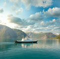 Free Ferry In The Fjord Stock Photo - 17740430