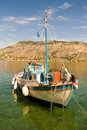 Free A Small White Fishing Boat Stock Photography - 17740492