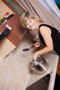Free Young Woman On Kitchen Stock Photography - 17743192