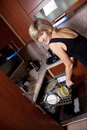 Free Young Woman On Kitchen Stock Images - 17743274