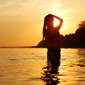 Free Woman In Ocean Stock Photography - 17743712