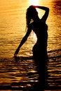 Free Woman In Ocean Stock Images - 17743724