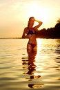 Free Woman In Ocean Stock Photo - 17743730