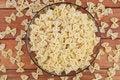 Free Raw Farfalle Pasta Stock Image - 17744261