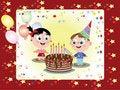 Free Birthday Postcard Royalty Free Stock Images - 17747499