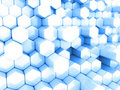Free Blue Hexagons Stock Image - 17748941