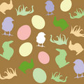 Free Easter Card Pattern Royalty Free Stock Photos - 17749408