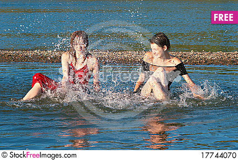 Free River Play Stock Photo - 17744070