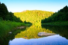 Free River In The Evening Royalty Free Stock Photo - 17740005